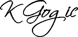 kristina gogić logo crni